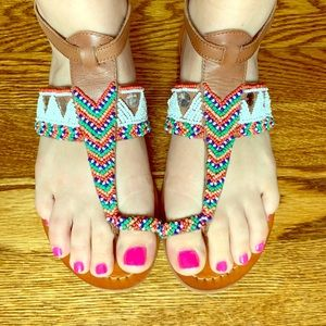 Vince Camuto Beaded Sandals
